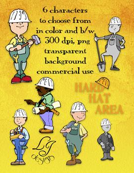 Hard Hat Area Clip Art - Commercial Clip Art for Classroom