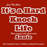 """Hard Knock Life for Orff Ensemble from classic movie """"Annie"""""""