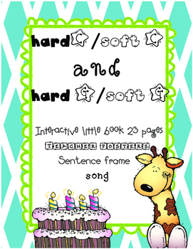 Hard / Soft C & G interactive little book, song, and more!