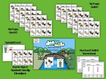 Hard & Soft G Game and Word Sort BUNDLE