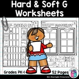 Hard & Soft G Worksheets and Activities for Early Readers - Phonics