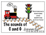 Hard & Soft Sounds of C and G: Rules Posters, Sort Activities, & Reading Passage