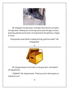 """Hard Sound of """"G"""", Literacy Story and Worksheet"""