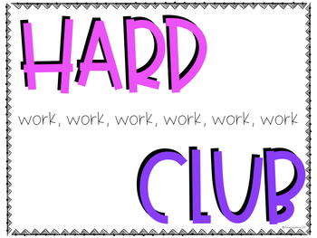Hard Work Club to End Late Work
