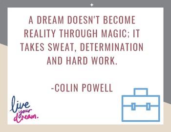 Hard Work & Determination POSTER