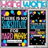 Hard Work Growth Mindset Bulletin Board, Door Decoration K