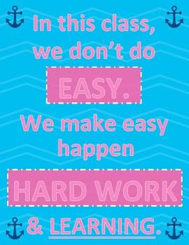 Hard Work - Motivational - Poster