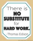 """Hard Work"" poster"