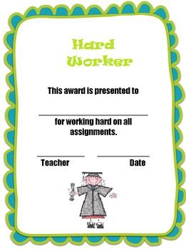 Hard Worker Certificate