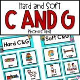 Hard and Soft C & G Posters, Sorting, Game, No Prep Worksheets