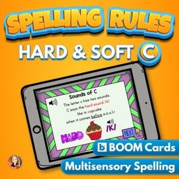 Hard and Soft C Practice Digital Boom Task Cards