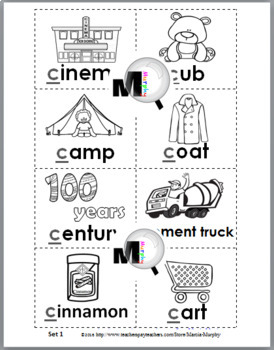 Hard and Soft C Sorting Activity plus Worksheets & Posters – Set 3