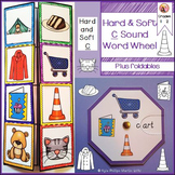 Hard and Soft C Sound Word Wheels and foldable worksheets