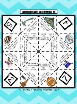 Hard and Soft C Spelling/Reading - Fortune Teller - Orton-Gillingham inspired!