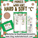 Hard and Soft C Word Sort - File Folder Word Sorts