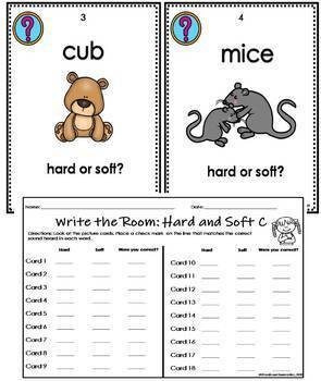 Hard and Soft C- Write the Room Activity