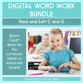 Hard and Soft C and G - Digital Phonics Activities   BOOM Cards™