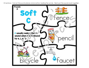Hard and Soft C and G  Puzzles, Posters, and Bookmarks