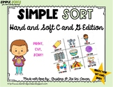 Hard and Soft C and G Sorting Cards