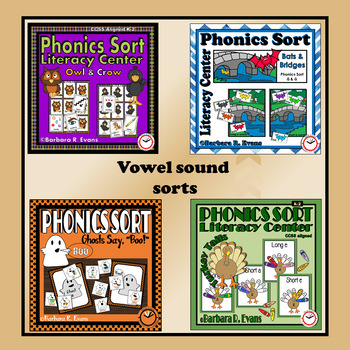 LITERACY CENTER BUNDLE Phonics Sort Consonant Sounds