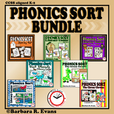 PHONICS SORTS BUNDLE 5 Literacy Center Activities Phonics Letter Sounds