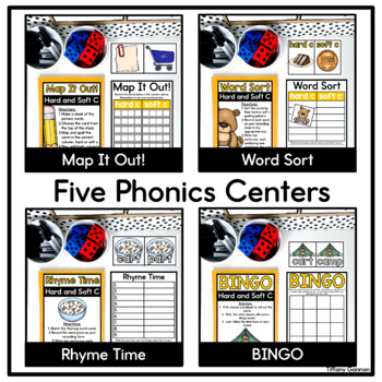 Hard and Soft Consonants Word Work Activities