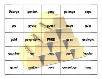 Hard and Soft G File Folder Game - Orton-Gillingham