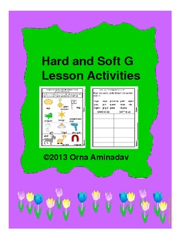 Hard and Soft G Lesson Activities