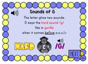 Hard and Soft G Practice Digital Boom Task Cards