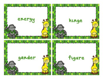 Hard and Soft G Sorting Activities for Upper Elementary
