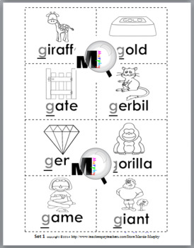 Hard and Soft G Sorting plus Worksheets & Posters - Set 1 (Hard G & Soft G)