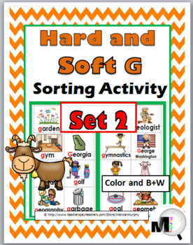 Hard and Soft G Sorting plus Worksheets & Posters – Set 2