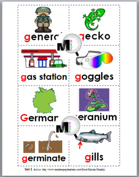 Hard and Soft G Sorting plus Worksheets & Posters – Set 3 - Hard G & Soft G