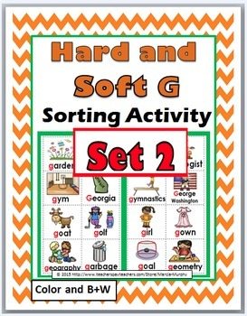 Hard and Soft G Sorting & Worksheets & Posters Bundle (Hard G & Soft G)