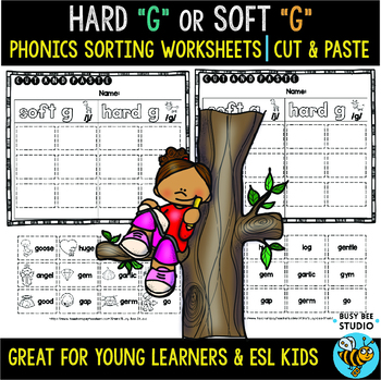 Hard and Soft G Sorts | Cut and Paste Worksheets