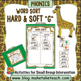 Hard and Soft G Word Sort - File Folder Word Sorts