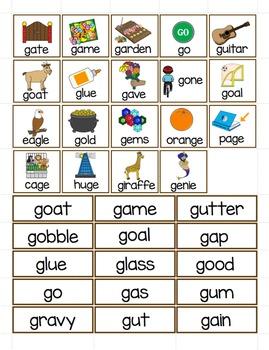 Hard and Soft G Word Sort - File Folder Word Sorts