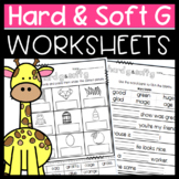 Hard and Soft G Worksheets: Cut and Paste Sorts, Cloze, Read and Draw and more!