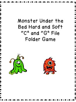 Hard and Soft G and C File folder game