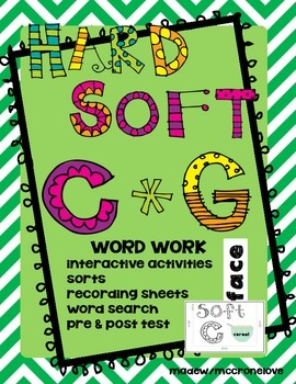 Hard and Soft Sounds of C and G Word Work