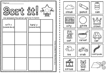 Hard and soft c Activities set 1
