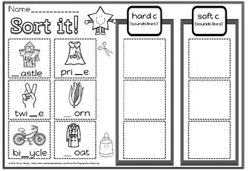 Hard and soft c Activities set 4