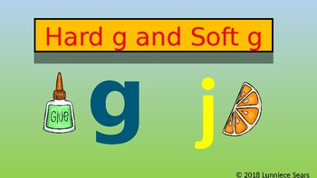 Hard g and Soft g  Powerpoint