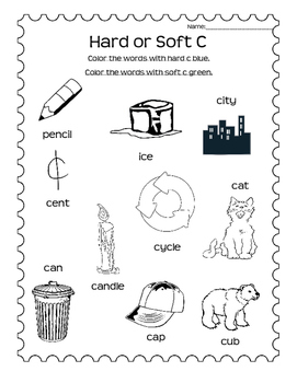 Hard or Soft C Sort and Worksheets