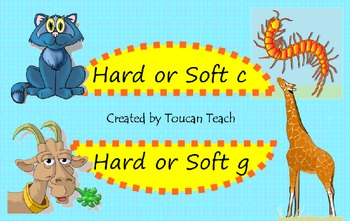 Hard or Soft c and g SMARTBoard Activities
