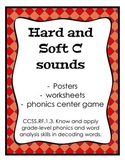 Hard C and Soft C Phonics, posters, worksheets, Common Core Aligned