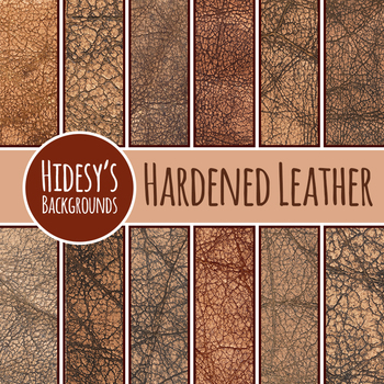 Hardened Leather Backgrounds / Digital Papers Great for Western / Vintage Themes