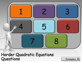 Harder Quadratic Equations animated PowerPoint