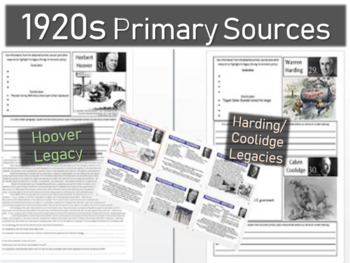 Harding, Coolidge, Hoover Legacy (Handouts, Primary Sources, PPT)
