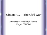 The Civil War - Hardships of War PowerPoint